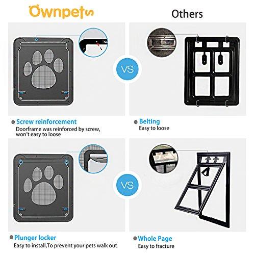 OWNPETS Dog Screen Door, Lockable Pet Screen Door, Magnetic Self-Closing Screen Door with Locking Function, Sturdy Screen Door for Dog Cat by OWNPETS (Image #4)