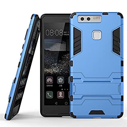 Para Huawei P9 /EVA-L09/EVA-L19/EVA-L29 Tapa Funda, Ougger(TM) Protección Extrema Choque Absorción [Kickstand] Armadura Carcasa Duro PC + Suave TPU ...