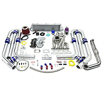 Amazon.com: High Performance Upgrade T04E T3 13pc Turbo Kit - Honda B-Series Stainless Steel Manifold 60mm wastegate: Automotive