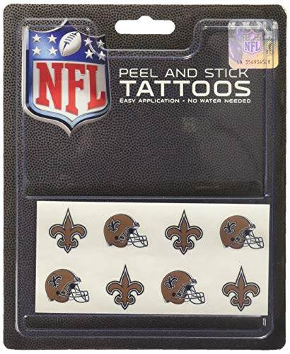 Rico Industries NFL New Orleans Saints Face Tattoos, 8-Piece Set ()