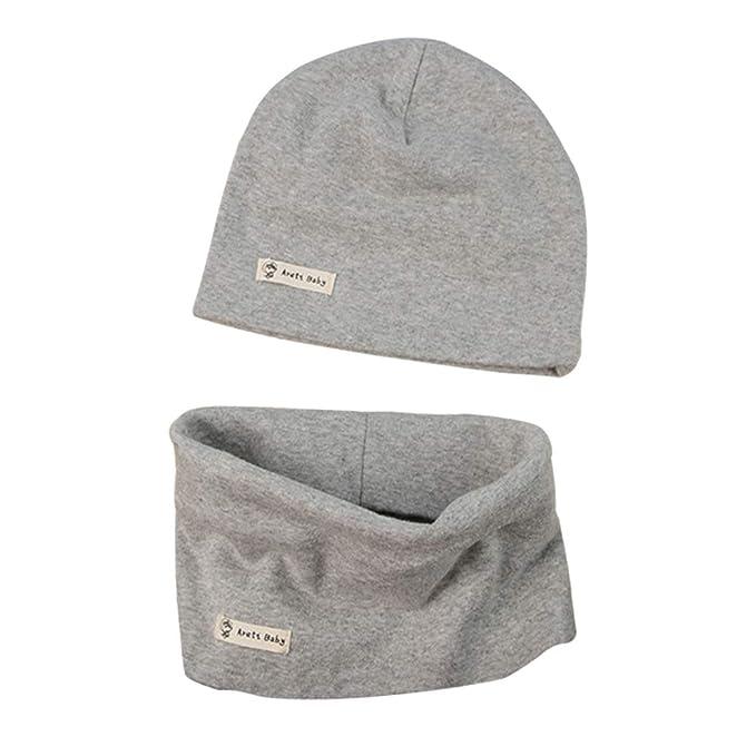 LACOFIA Conjunto de Sombrero y Bufanda de Cuello para bebé ninos y ...