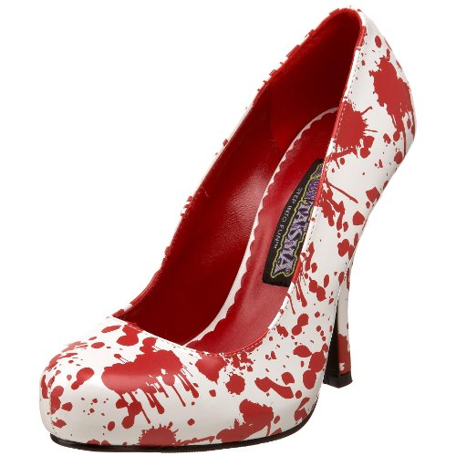 Heels High Zombie (Funtasma by Pleaser Women's Bloody-12 Pump,White Patent/Red,8 M)