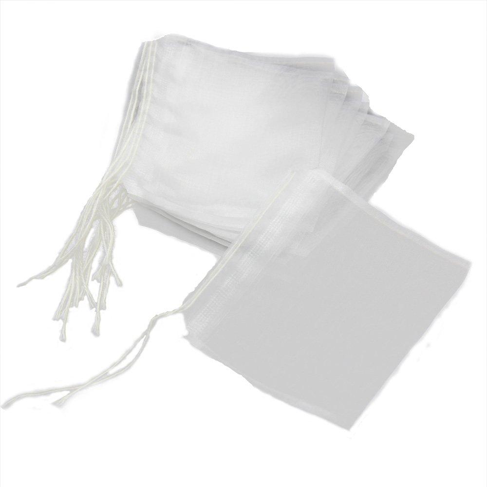 Twinklefilter 100pcs 2.36 inch* 2.76 inch(60*70mm) Reusable Nylon Mesh Drawstring Filter Tea Bag for Loose Tea Herbs Spice Bouquet Garni Potpourri Bags by Gcircus