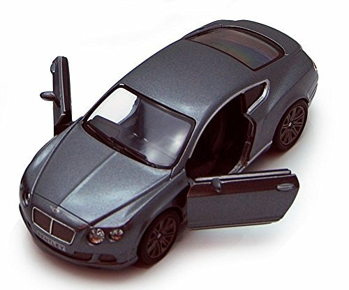 Kinsmart 2012 Bentley Continental GT Speed, Gray 5369D - 1/38 scale Diecast Model Toy Car, but NO BOX