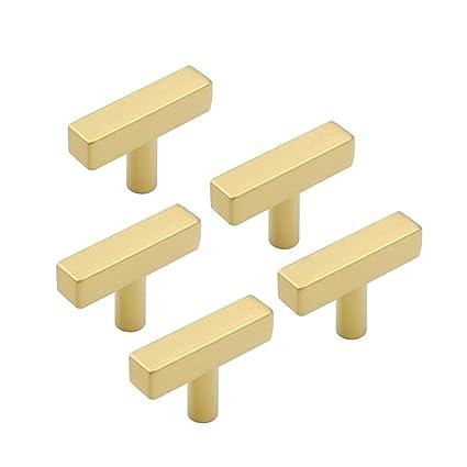 5 pieza Muebles acero inoxidable tubo cuadrado oro Puerta ...