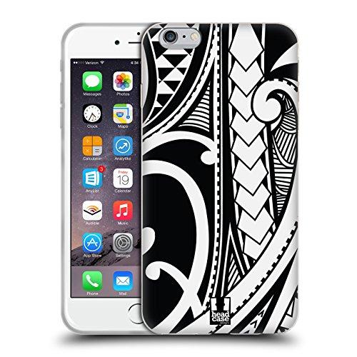 Head Case Designs Ornate Swirl Samoan Tattoo Soft Gel Case for iPhone 6 Plus/iPhone 6s Plus (Case Iphone Samoan 6 Tattoo)