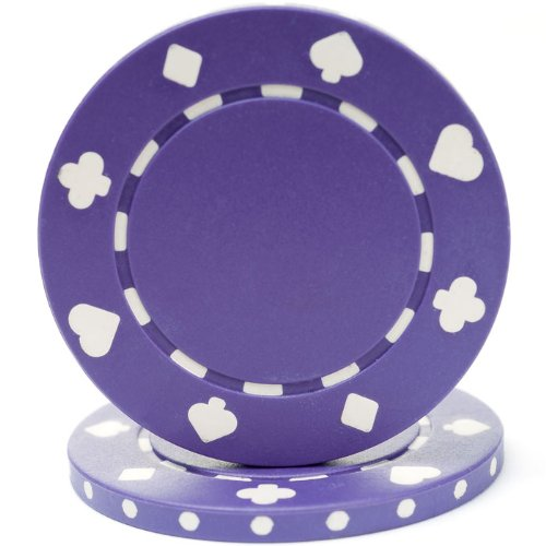 (Trademark Poker 50 Suited Chip, 11.5gm, Purple)