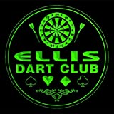 4x ccts0423-g ELLIS Dart Club Game Room Bar Beer 3D Engraved Drink Coasters