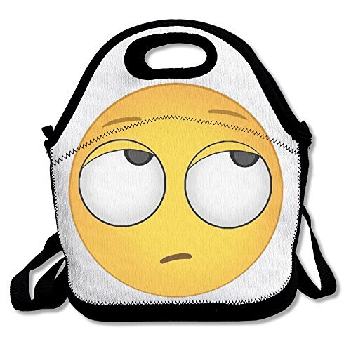 [Black Eye Roll Emoji Unisex Lunch Bag For Woman Man Kid] (Cute Halloween Gifts For Coworkers)