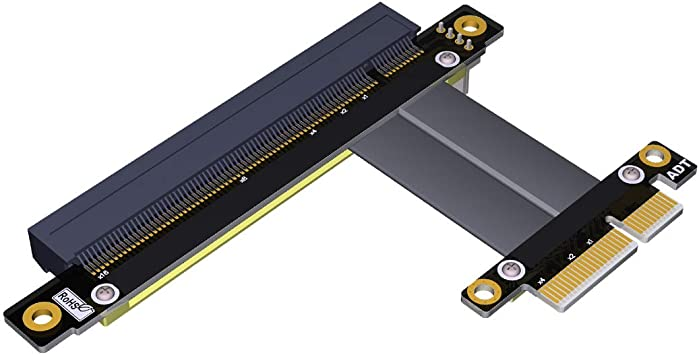 Cable Length: Other Connectors Riser PCI-E x16 pcie pci Express 16X to 16x Riser Extender Card with Molex IDE Power /& Ribbon Cable Adapter 20cm