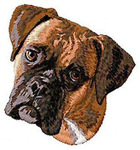 Boxer Dog Embroidered Patch 2.9