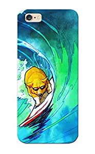 Hot Style EiSKRQ-1515-fymoC Protective Case Cover For Iphone6 (dog Surf Surfing Wave Drawing ) For Thanksgiving Day's Gift