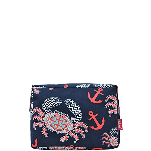 Ocean Sea Crab Print Large Cosmetic Travel Pouch for sale  Delivered anywhere in USA
