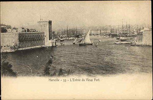 Vieux Port - LEntree du Vieux Port Marseille, France Original Vintage Postcard