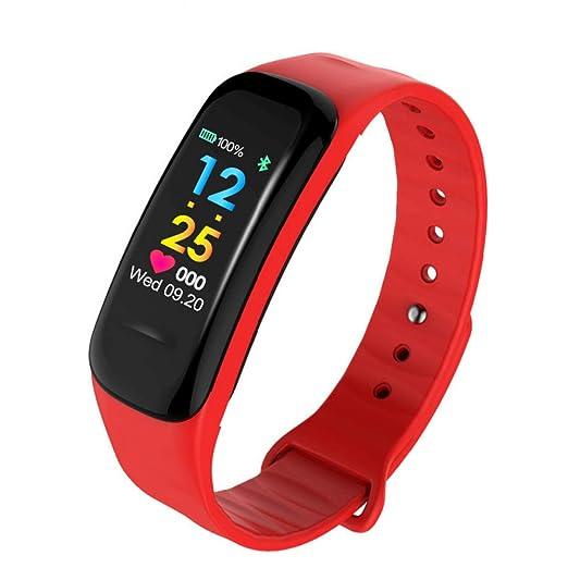 Wolfsay Brazalete Deportivo C18 Pulsera de Fitness Banda Inteligente Pulsera Rastreador de Actividad de Ritmo Cardíaco Reloj Cicret Smartband Pulsómetro ...