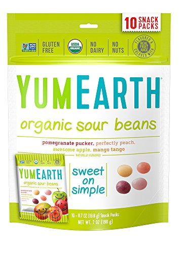 YumEarth Organic Sour Beans,  10 snack packs ()