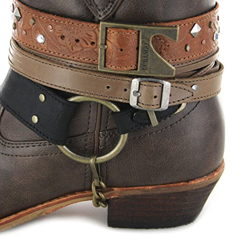 FB Fashion Boots Women's Drd0121 Cowboy Boots Brown 3bzTeLKD