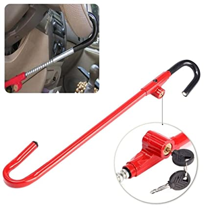 Oshotto Anti-Theft Car Steering Wheel Lock Brake Pedal