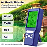 KKmoon Multifunctional CO2 ppm Meters Mini Carbon Dioxide Detector Gas Analyzer Protable Air Quality Tester
