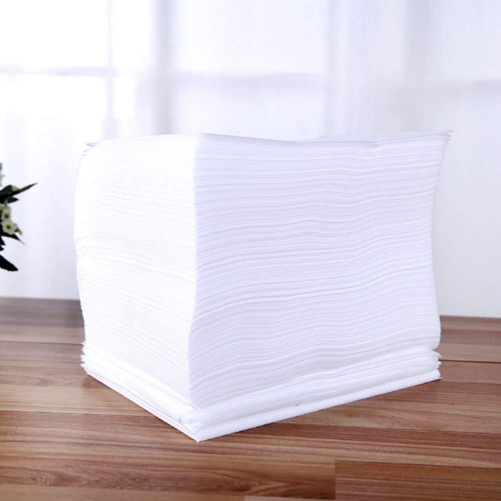 Larry Shell 50 piezas de toallas desechables, hechas de pulpa de madera, utilizadas para limpiar la cara humana, las manos o los muebles limpios, ...