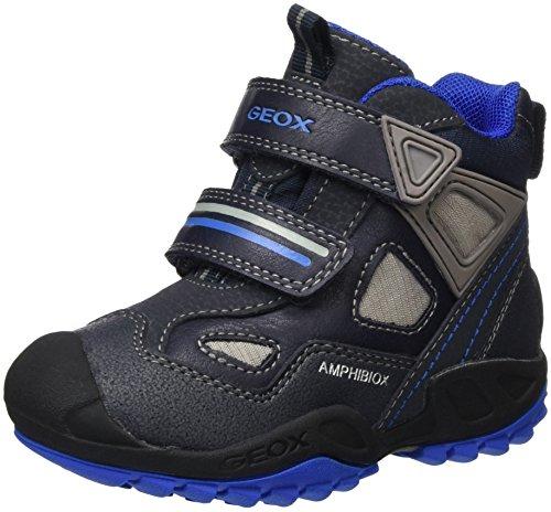 Geox Jungen J New Savage Boy B Abx C Sneakers, Blau (Navy/ROYALC4226), 35 EU