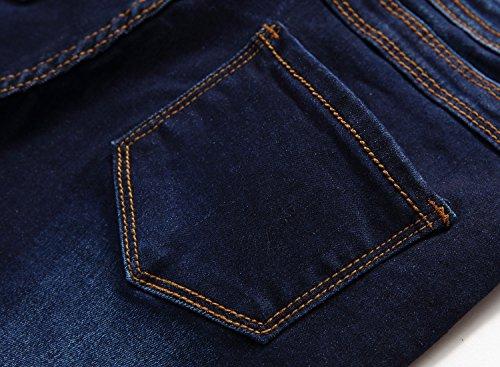 fb9ca5359dfe FREDD MARSHALL Boy's Blue Skinny Fit Stretch Slim Elastic Waist Denim Jeans  Pants For Kids ,