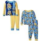 Despicable Me Little Boys' Team Minions 4-Piece Pajama Set, Blue, 2T
