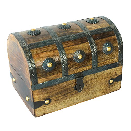 Nautical Cove Treasure Chest Keepsake and Jewelry Box Wood - Toy Treasure Box Large - Box Toy Pirate