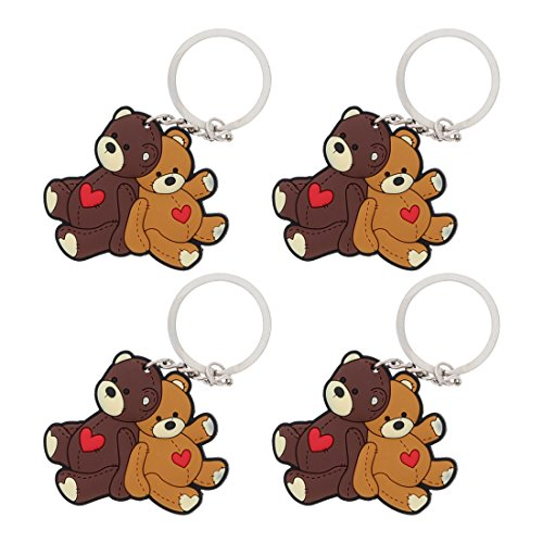 4 Quality Keychain Backpack Charm Keyring Teddy Bears ()