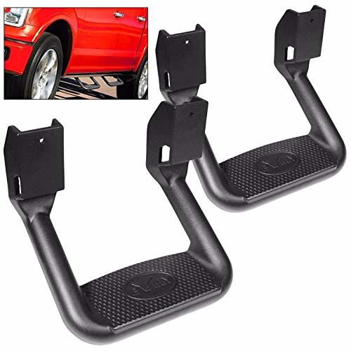 Pilot Side Step (BULLY Black Powder Coated Pair of Side Step Nerf Bars Truck SUV)