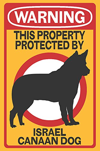Israel Canaan Dog - Warning (12x18 SIGNED Print Master Art Print w/ Certificate of Authenticity - Wall Decor Travel (Israel Signed)