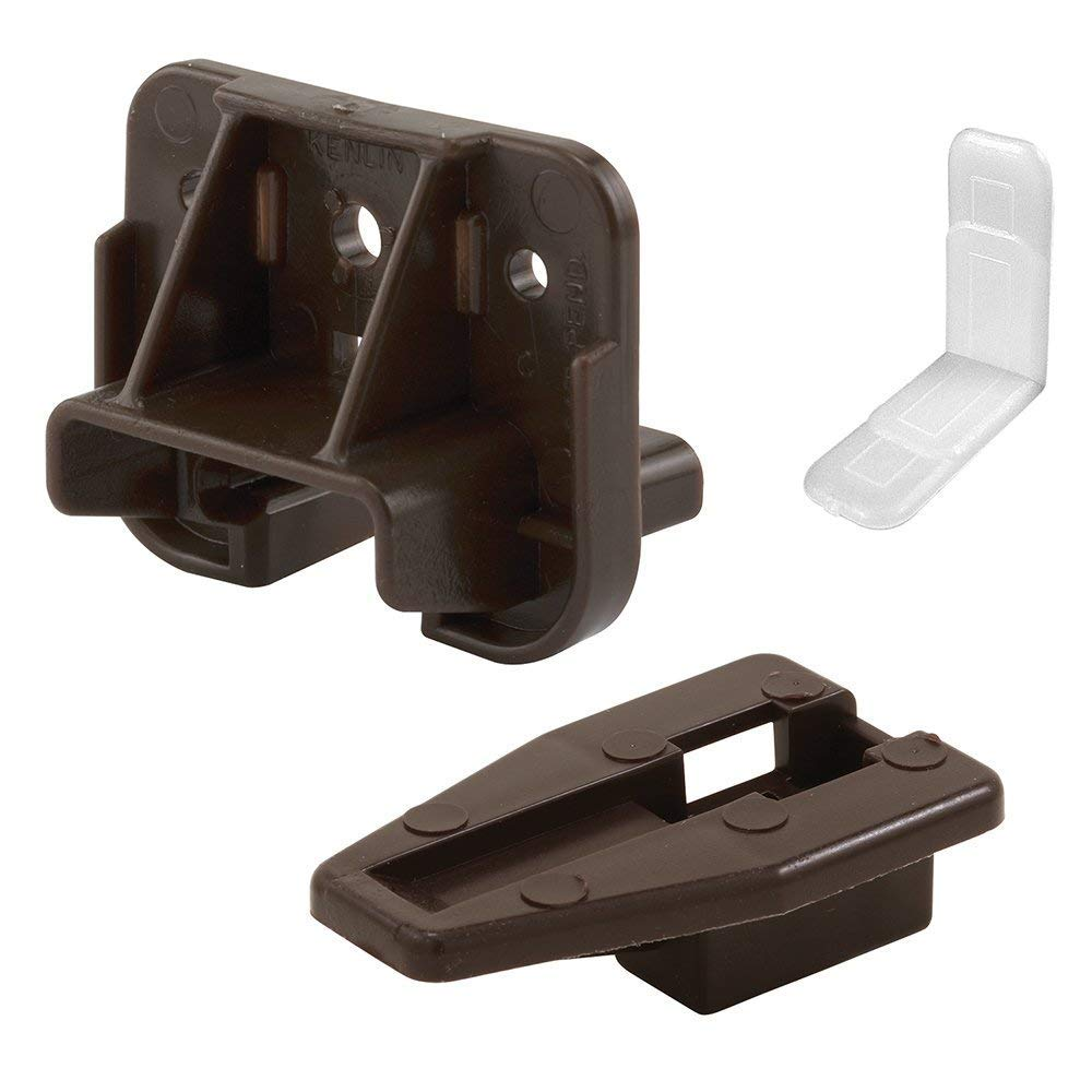 Prime-Line R 7321 Drawer Track Guide and Glides - Replacement Furniture Parts for Dressers, Hutches and Night Stand Drawer Systems, Sold as 6 Pack