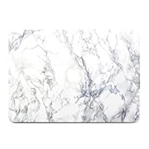Macbook Pro 13 Case, GMYLE Hard Case Print Frosted for MacBook Pro 13 inch - White Marble Pattern Rubber Coated Hard Shell Case Cover (Not Fit For Macbook Pro 13 with Retina Display)