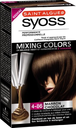 saint algue syoss mixing colors coloration permanente marron chocolat 4 86 amazonfr hygine et soins du corps - Marron Chocolat Coloration