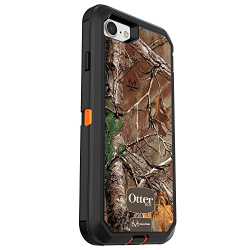 (OtterBox DEFENDER SERIES Case for iPhone 7 (ONLY) - Retail Packaging - REALTREE XTRA (BLAZE ORANGE/BLACK/XTRA)