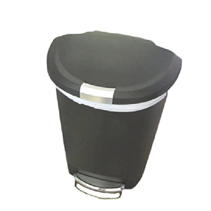 Charmant Dog Proof Trash Can Locking 13 Gallon Kitchen Rubbish Foot Step Tall With  Lock Lid