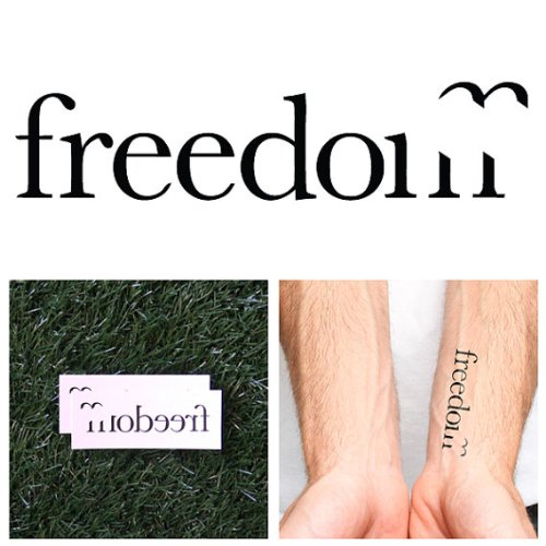 Tattify Freedom Temporary Tattoo - Jailbreak (Set of 2) - Other Styles Available - Fashionable Temporary Tattoos - Long Lasting and Waterproof