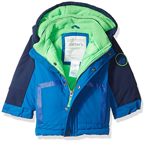 Carter's Baby Boys Heavyweight 2-Piece Skisuit Snowsuit, House Blue/Current Navy, 18M by Carter's (Image #2)