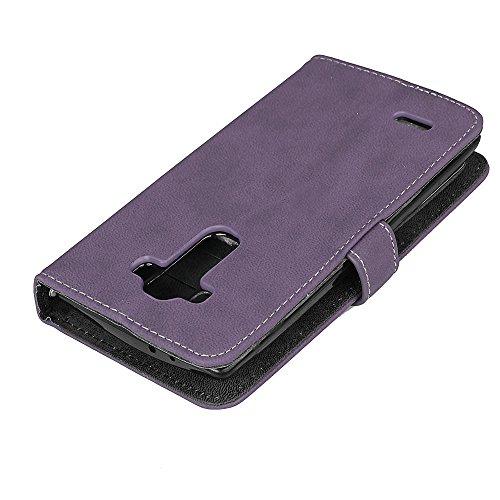 Cover PU G4 LG Coquille Wallet Protection Cuir cartes Rétro Coque Sy Housse 9 Coque emplacements en Couverture Folio BONROY de Portefeuille G4 Cuir Magnétique Étui LG en cuir Fermeture Housse pourpre pour 0x6YUw
