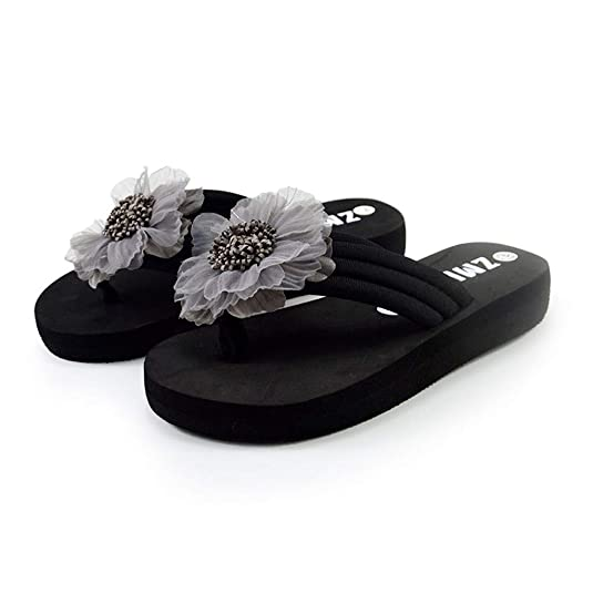 Amazon.com | AOJIAN Shoes Womens Sandals Platform Summer Flowers Home Beach Flip Flop Slide Slipper Clog Mule | Flip-Flops