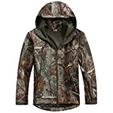 Reebow Gear Men's Military Special Ops Softshell Tactical Jacket Waterproof Leaf Camouflage XXL