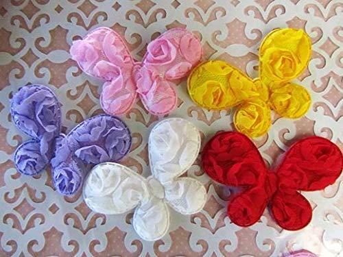 25 Big Rose Brooch Fabric Floral Applique/Trim/Sewing/Craft/Bow #ID-1484