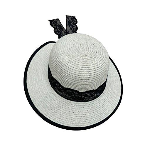 Soleil Acvip Chapeau Large Eté En Capeline Femme Laiteux Blanc Paille De Bord wxBqYCRpx