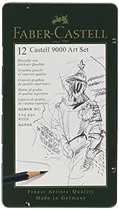 Faber-Castell 9000 Graphite Sketch Pencil Sets Art 8B - 2H set of 12