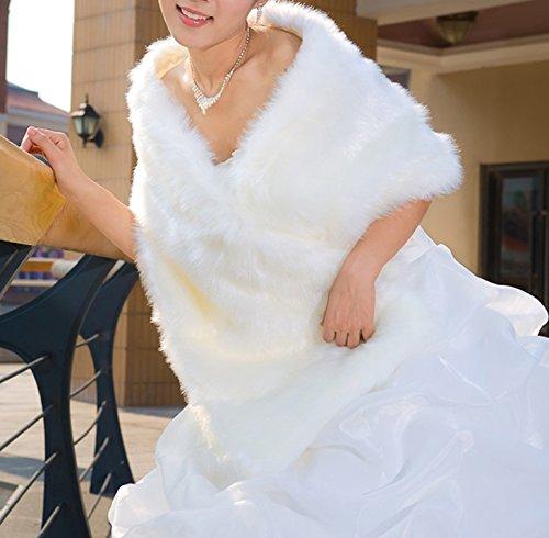 Curve Faux Fur Shawl Wrap Stole Cape Scarf for Women