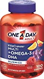 One A Day Vitacraves Plus Omega-3 DHA Gummies,(PACK OF 2) 100 Count