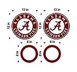 (2) 12'' Alabama Crimson Tide Cornhole Decals w/ 2 6'' circles vinyl decal kit