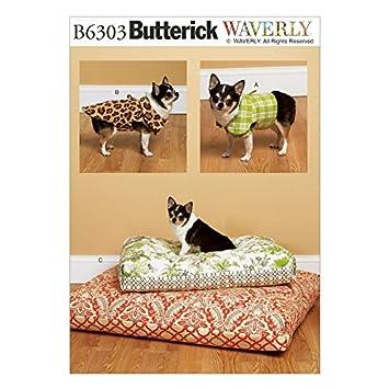 Butterick Schnittmuster 6303 Hund Betten, Weste & Coat + Gratis ...