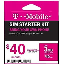 Bring Your Own Phone T-Mobile Starter Sim Kit FREE $40 Plan ...