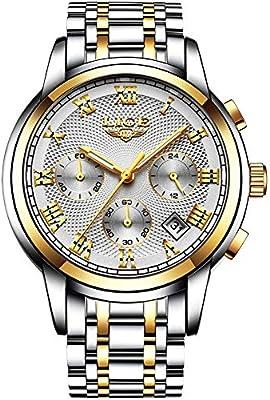 Amazon.com: CIGOO LIGE 9849 Reloj de cuarzo para hombre ...